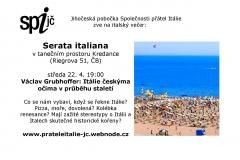 letáček Itálie