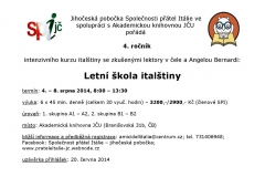 Letní škola italštiny 2014